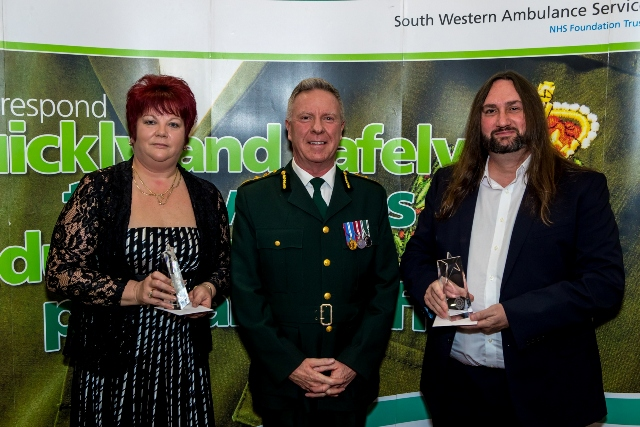Heather Lane and Roger Haworth given lifesaving awards