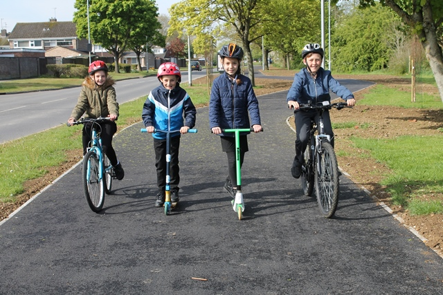 Covingham cycle path opening