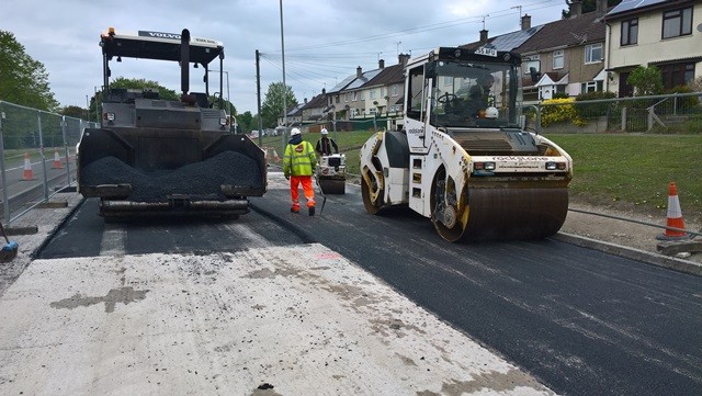 Akers Way first phase repairs